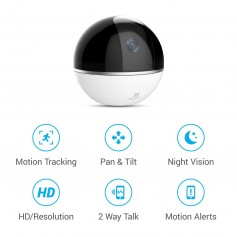 CAMARA IP WIFI EZVIZ 360 PLUS 1080P FULL HD 2 MP 4MM SLOP MICRO SD AUTO TRACKING