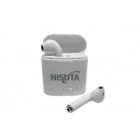 AURICULAR EARBUDS NISUTA BLUETOOTH CON CAJITA RECARGABLE TIPO AIRPODS TWS1