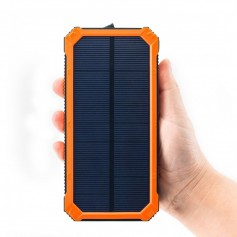 CARGADOR PORTATIL SOLAR POWER BANK 10000MAH POWER BOX LINTERNA