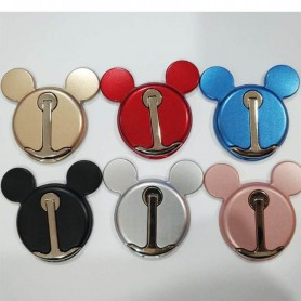 SOPORTE ANILLO PARA CELULARES RING 360 METAL MICKEY MOUSE