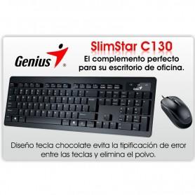 TECLADO Y MOUSE GENIUS SLIMSTAR C130
