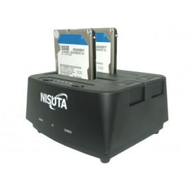 DOCKING DE DISCOS 2.5 Y 3.5 USB 3.0 CLONADOR NISUTA NSDOHD2