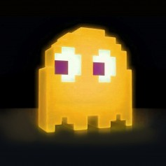 LAMPARA VELADOR PACMAN GHOST AUDIORITMICA DE ESCRITORIO LUCES COLORES AMARILLO VIR-1338