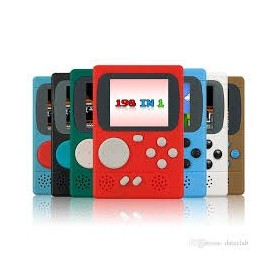 CONSOLA PORTATIL RETRO SIMIL GAMEBOY 198 JUEGOS 8 BIT FAMILY PANTALLA 2.4 PULGADAS GC36