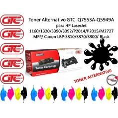 TONER LASER ALTERNATIVO GTC HP Q7553A/5949A M2727 P2014 P2015