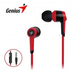 Auricular Genius Hs-M225 Inear Con Microfono Rojo