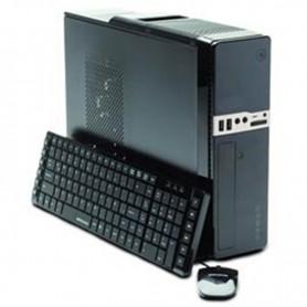 GABINETE PC SLIM KIT BANGHO TECLADO MOUSE PARLANTES FUENTE