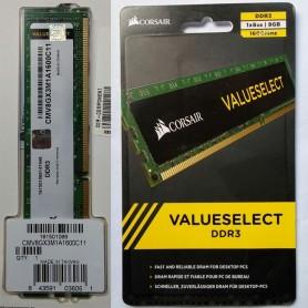 MEMORIA DDR3 8GB 1600 MHz CORSAIR VALUE CMV8GX3M1A1600C11