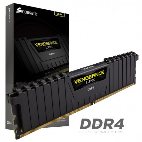 MEMORIA DDR4 8GB 2400 MHz CORSAIR VENGEANCE LPX Black CMKGX4M1A2400C14