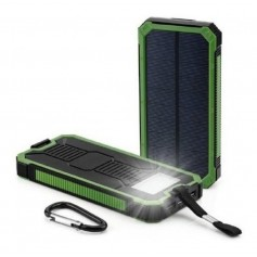 CARGADOR PORTATIL SOLAR ONSET 10000MAH POWER BANK 2 PUERTOS 2A IT-1418