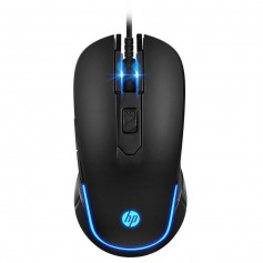 MOUSE GAMING M200 HP USB 3500DPI HEWLETT PACKARD NEGRO CON LUZ GAMER