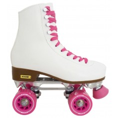 PATINES ROLLERS BLANCO KOSSOK 4 RUEDAS DE SILICONA TALLE S AJUSTABLE PATIN ARTISTICO R05010