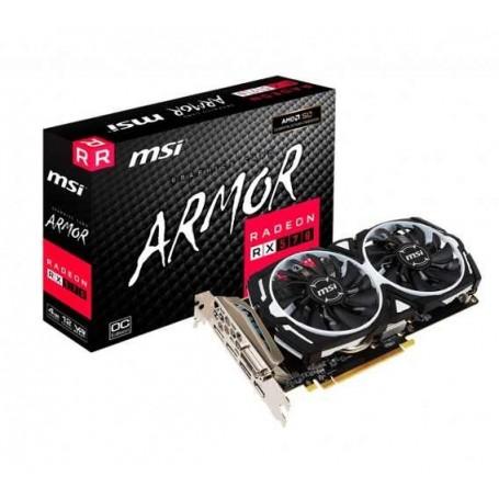 PLACA DE VIDEO MSI RADEON RX 570 ARMOR 8GB OC DDR5 DOBLE COOLER DISPLAYPORT HDMI