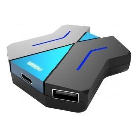 ADAPTADOR HUB USB PARA CONSOLA NOGA TECLADO Y MOUSE PS4 XBOX
