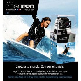 CAMARA DEPORTIVA NOGA PRO G3 ACTION CAM SUMERGIBLE 30MTS FULL HD 720P 900MAH WIFI MICRO HDMI