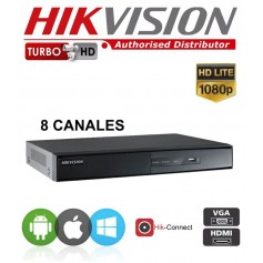 DVR 8 CANALES HIKVISION DS-7208 HGHI-F1-N TURBO HD