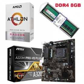 COMBO ACTUALIZACION AMD FX 8370E 4.3GHZ 8GB DDR3 RAM MOTHER 760GM-HDV AM3+