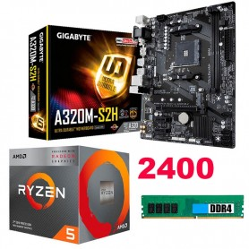 COMBO ACTUALIZACION AMD RYZEN 5 2400 3.9GHZ 8GB DDR4 RAM MOTHER B350M-PRO HDMI AM4