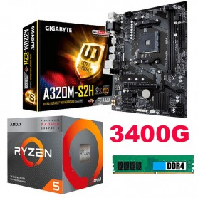 COMBO ACTUALIZACION AMD A8 7650K 3.8GHZ 8GB DDR3 RAM MOTHER A68HM-E33 HDMI