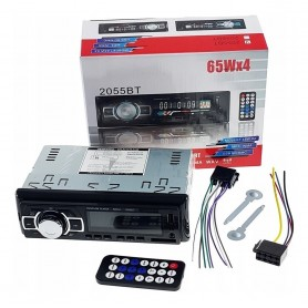 ESTEREO PARA AUTO MP3 USB SD WMA RADIO FM BLUETOOTH MANOS LIBRES 2058BT 65W X4