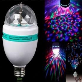 BOLA LED RGB LAMPARA GIRATORIA EFECTO DJ DINAX ROSCA COMUN