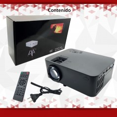 PROYECTOR LED 120 UC40+ VGA HDMI USB SD CONTROL REMOTO 1800 LUMENS 1080P WIFI