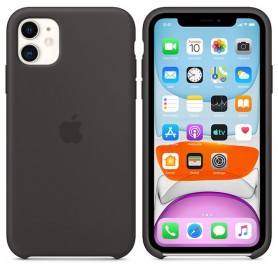 FUNDA IPHONE 11 6.1'' BLACK ORIGINAL SILICONA SILICONE COVER NEW IPHONE 2019