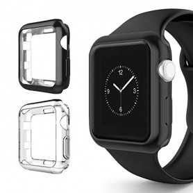 PROTECTOR SILICONA BUMPER 360 APPLE WATCH 42MM NEGRO