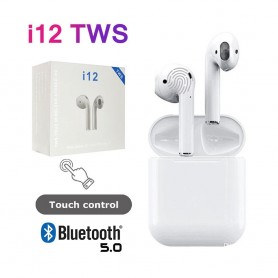 AURICULAR BLUETOOTH A12W 5.0 TIPO AIRPODS TACTIL CALIDAD IPHONE ANDROID