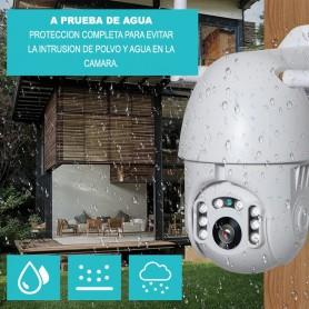 CAMARA IP DOMO EXTERIOR PTZ MOVIMIENTO WIFI O CABLE V307R VISION NOCTURNA + SONIDO HD 720P SEISA