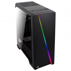 GABINETE AEROCOOL CYCLON BLACK GAMING LED RGB GAMER SIN FUENTE