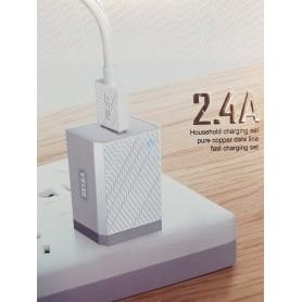 CARGADOR DE CELULAR RAPIDO CON CABLE LIGHTING USB 5V 2.4A SEISA-521A