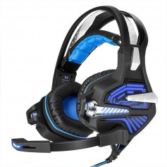 AURICULAR 7.1 GAMER KOTION EACH PRO GAMING HEADSET G5100 LUCES LEDS BLUE USB GAMING