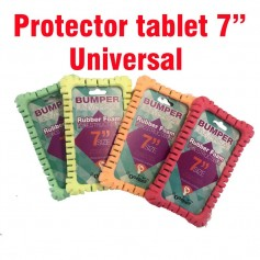 "Protector universal tablet 7"" Bumper rubber varios colores"