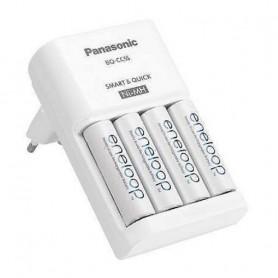 CARGADOR PILAS X4 PANASONIC INCLUYE 4 PILAS AA RECARGABLES ENELOOP