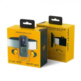 REPRODUCTOR MP3 CON 16GB ENERGY SISTEM EXPANDIBLE BLUETOOTH RADIO FM RECARGABLE MICRO SD FITNESS BLACK AND YELLOW
