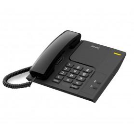TELEFONO DE MESA ALCATEL CON LUZ RINGER REDIAL T26 NEGRO