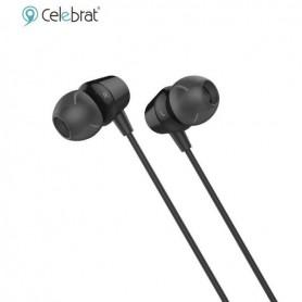 AURICULAR IN EAR CELEBRANT G4 CON MICROFONO FLAT TIPO CINTA NEGRO