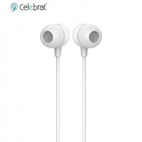 AURICULAR IN EAR CELEBRANT G4 CON MICROFONO FLAT TIPO CINTA BLANCO