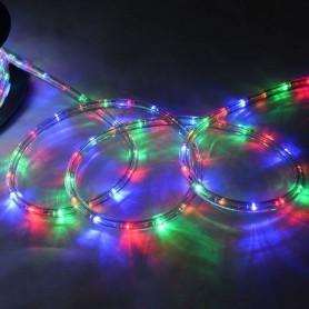 TIRA LED 5M ROLLO MANGUERA MULTICOLOR RGB EXTERIOR