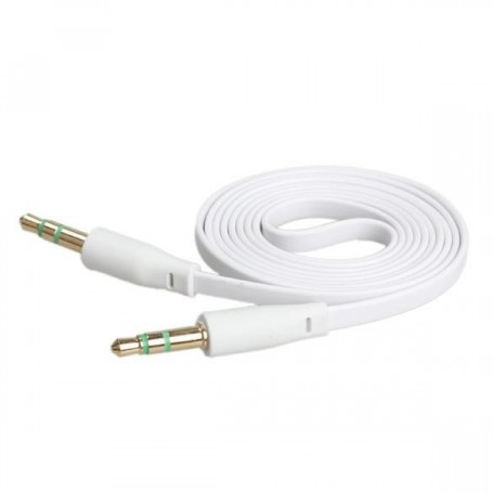 CABLE AUXILIAR MINIPLUG JACK 3.5MM A 3.5MM AOWEIXUN SILICONADO FLAT CABLE PLANO COLORES