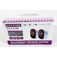 PARLANTE PARA PC MULTIMEDIA SPEAKER SYSTEM G-106 2.0 CHANNEL