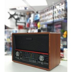 RADIO VINTAGE CON BLUETOOTH RETRO USB SD MADERA WOOD FM/AM AW-379