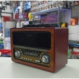 RADIO VINTAGE CON BLUETOOTH RETRO USB SD MADERA CHAMPAGNE FM/AM AW-379