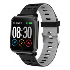SMARTWATCH DEPORTIVO WEST P11 BLACK AND GREY RITMO CARDIACO O2 LLAMADAS DISTANCIA CALORIAS PASOS
