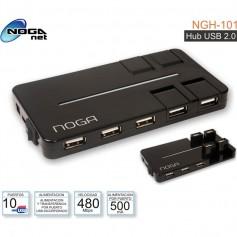 HUB USB CON FUENTE 10 PUERTOS 60CM