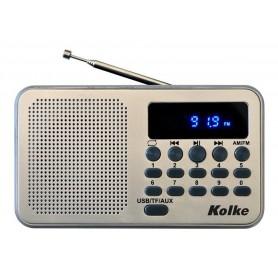 RADIO DIGITAL KOLKE PORTATIL AM FM RECARGABLE USB SD CON DISPLAY