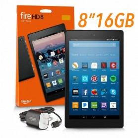 TABLET 8 AMAZON KINDLE FIRE QUADCORE 1.3GHZ 1.5GB 16GB WIFI DUAL BAND ALEXA CAMARA 8 PULGADAS NEGRA