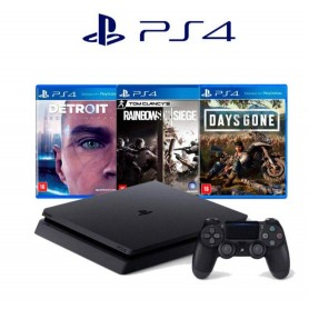 PLAYSTATION 4 PS4 CONSOLA SLIM 1TB + JOYSTICK + 3 JUEGOS