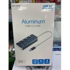 HUB USB ALIMINUM 4 USB 3.0 ALTA TRANSFERENCIA SUPER SPEED WINDOWS MACBOOK CQT-308D